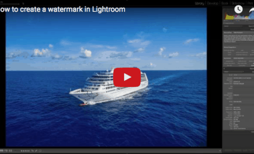 HOw to make a watermark in lightroom