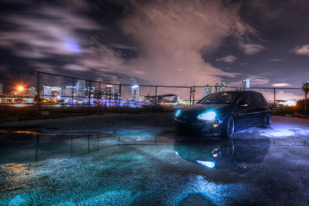 VW GTI Painted with light