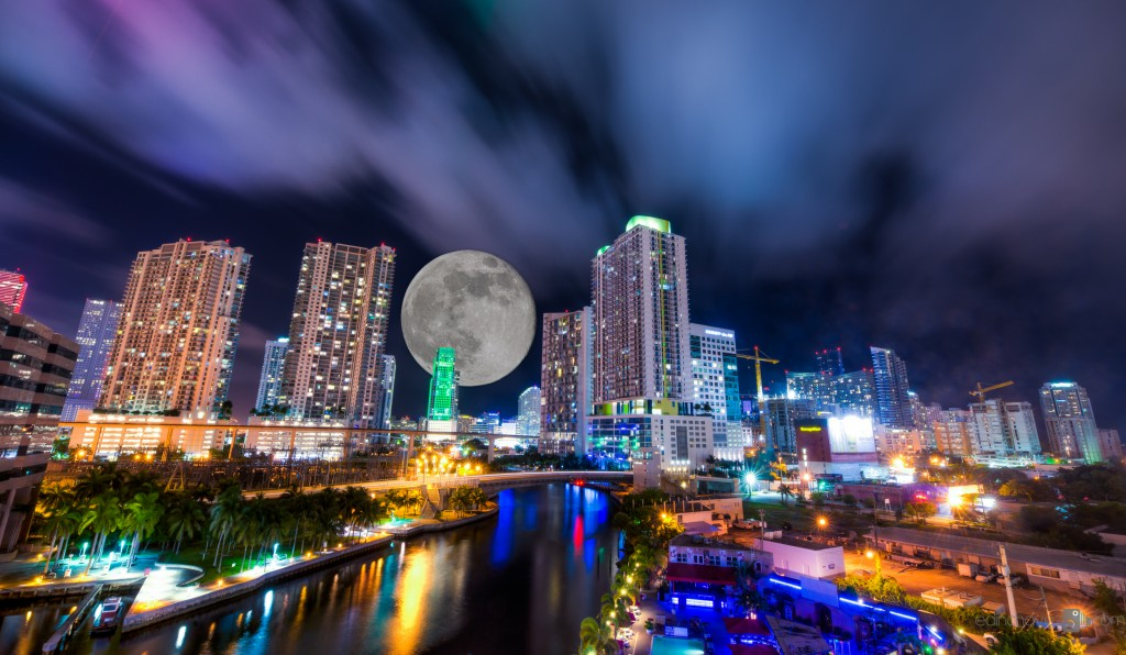 Miami and the moon