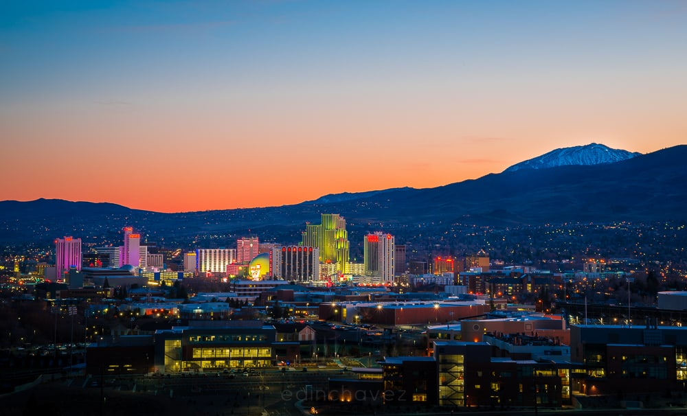 Reno Nevada Skyline