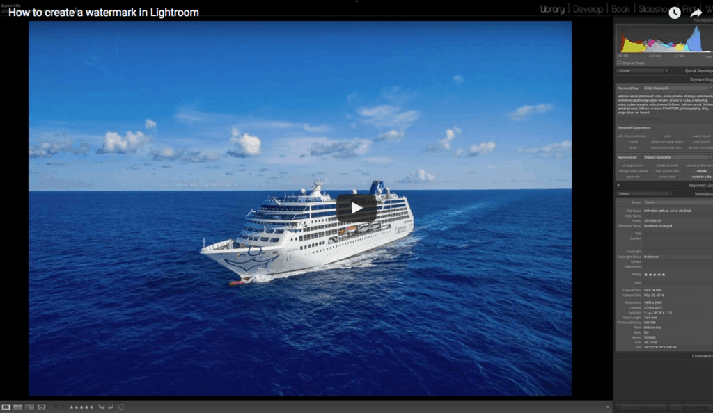 How to make a watermark in Lightroom (video)