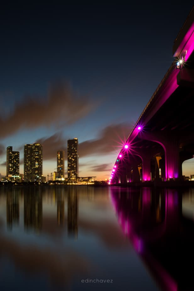 Miami Skyline from the bridge Best Miami Beach Photography Spots