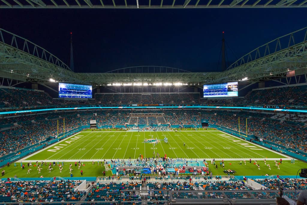 First Miami Dolphins Game at New Hard Rock Stadium