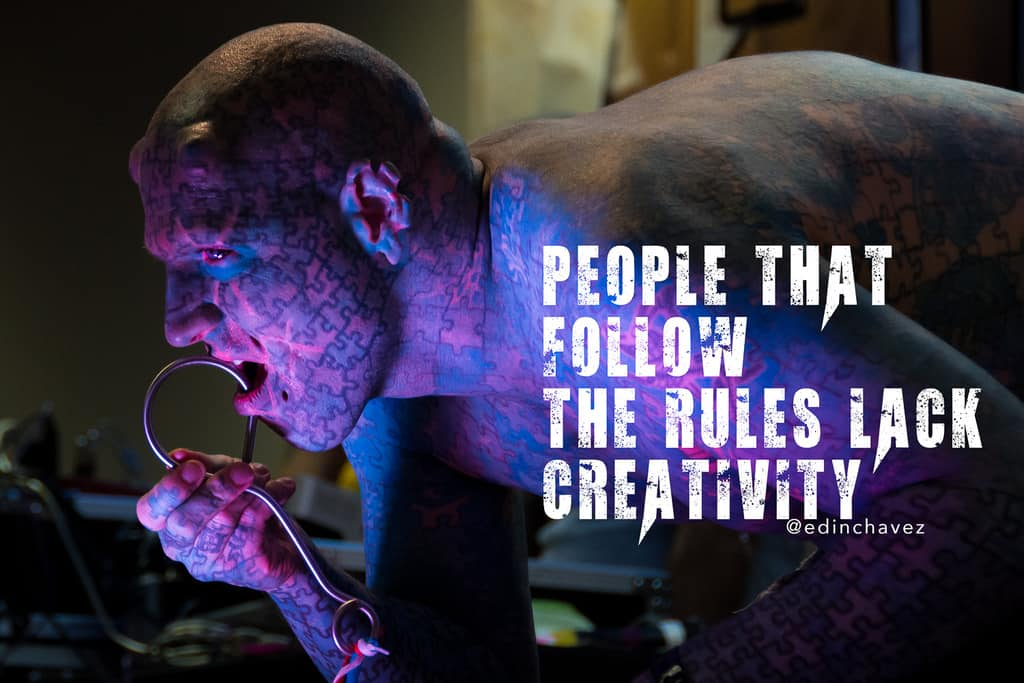 People that follow the rules lack creativity