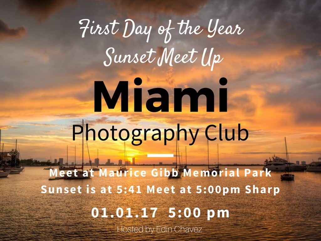 First day of the year sunset Meetup