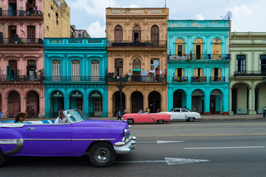 Main streen in havana cuba to photograph