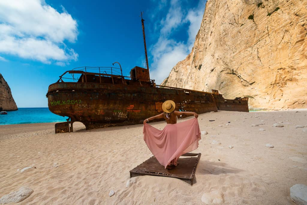 8 Tips TO Master Composition girl in dress by a shipwreck