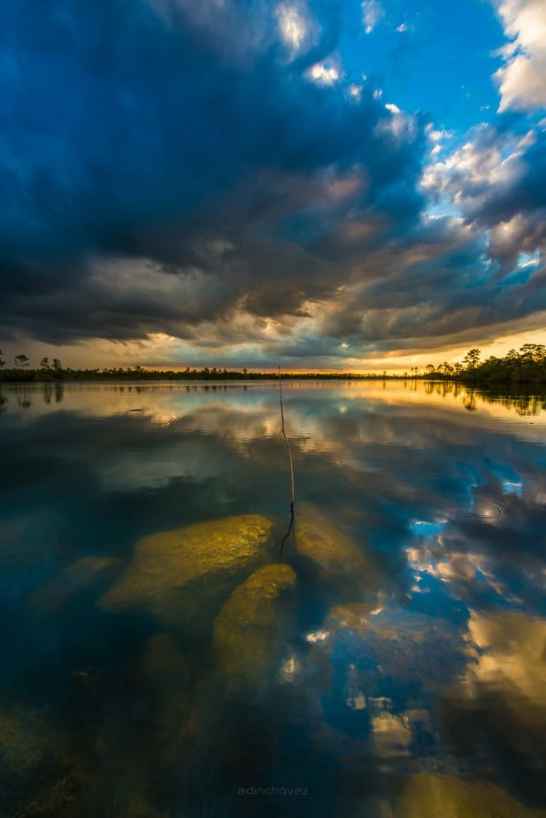 Sunset at the everglades national park