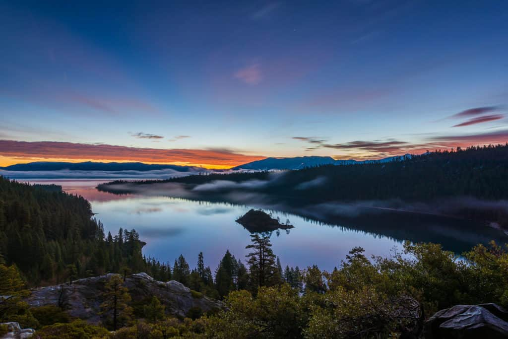 Best place to shoot the sunrise in lake tahoe emerald bay