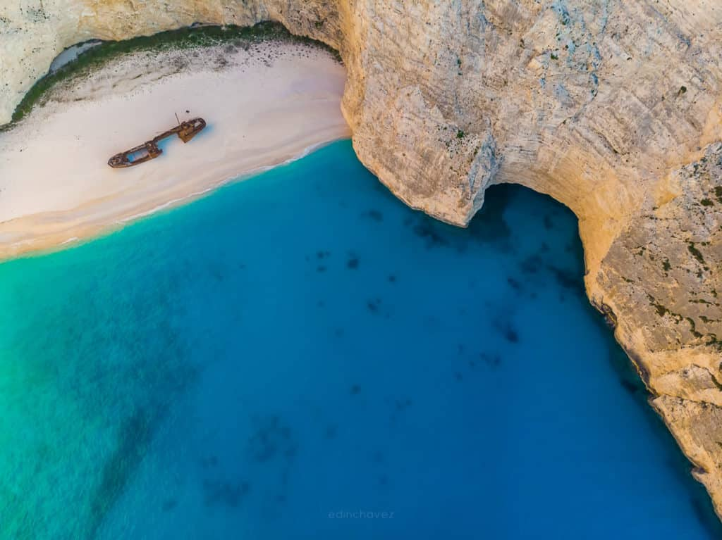 Best places to photograph in Navagio Shipwreck Beach Greece