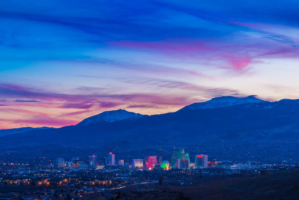 best Reno Nevada photography spots reno skyline