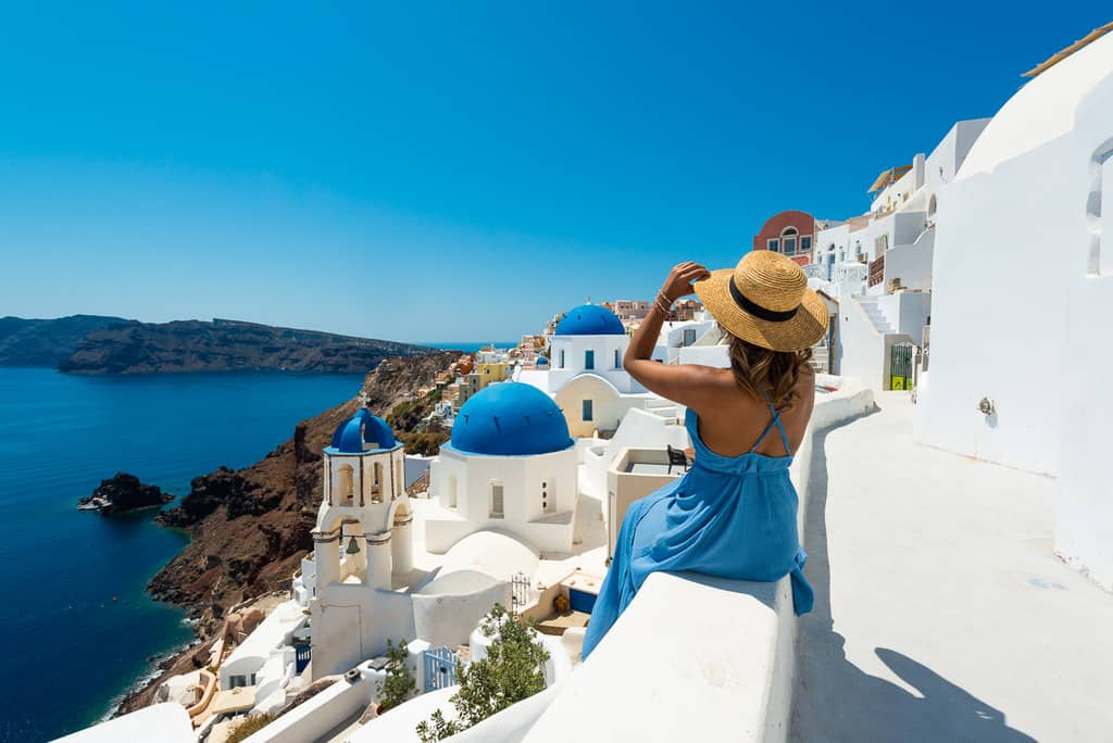 Santorini Photography Spots Blue Domes