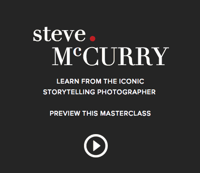 Steve McCurry Photography class