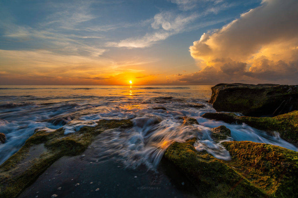 Sunrise at Blowing Rocks Jupiter Florida