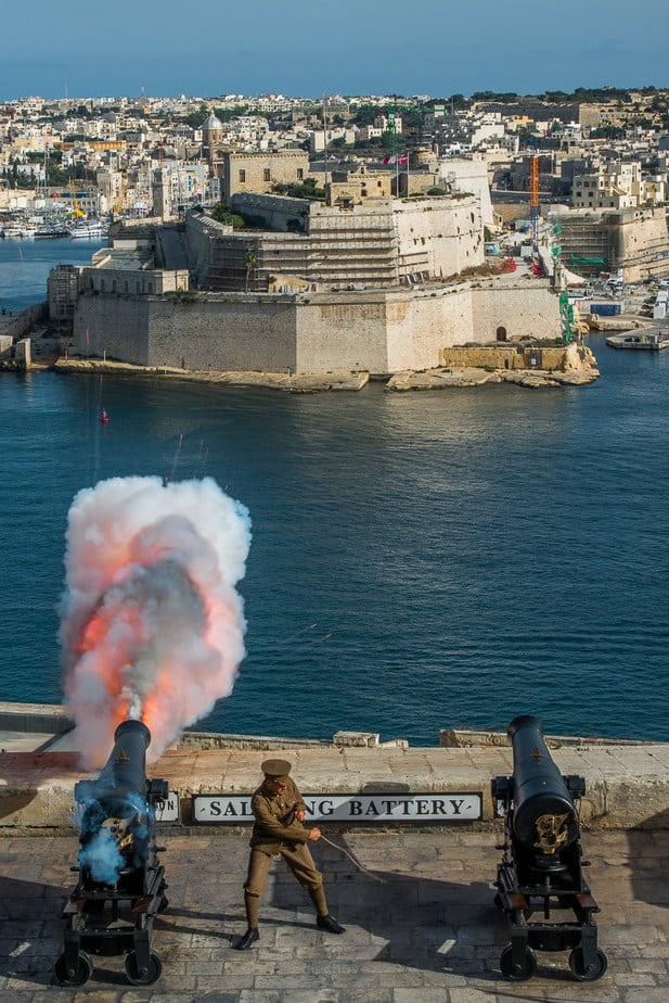 Saluting Battery Valletta Best Photography spots