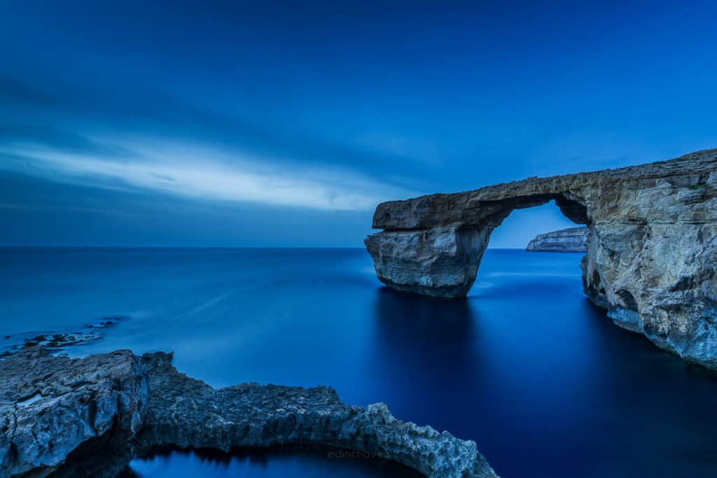 Sunset photo of Azure Window in Gozo Malta