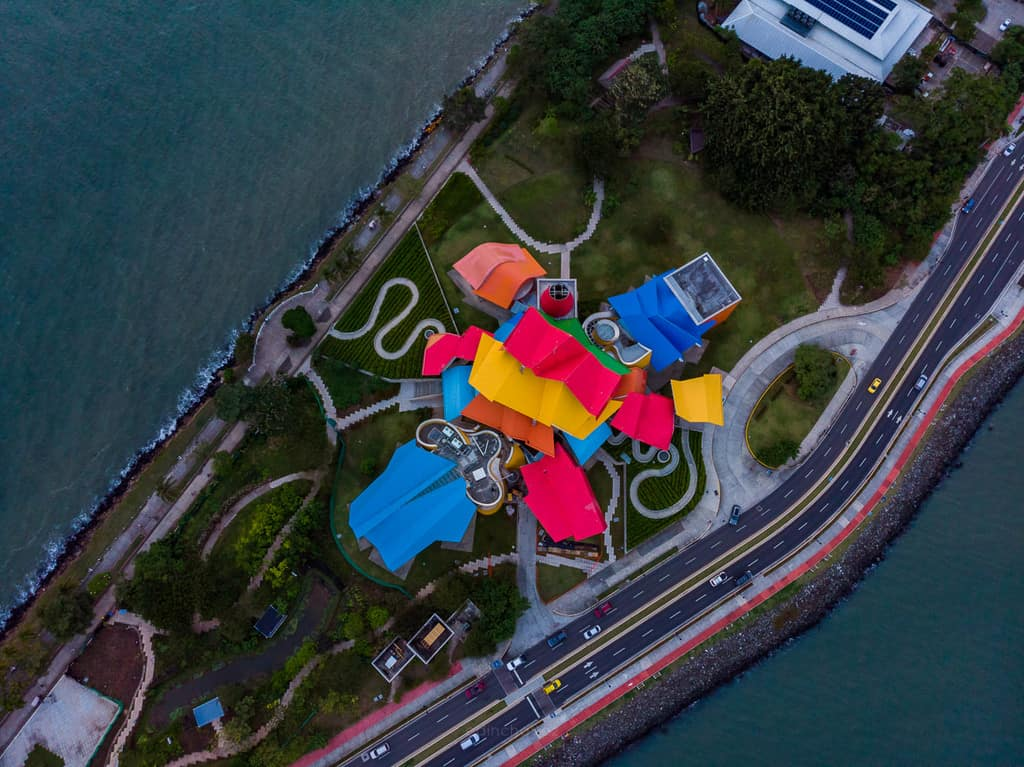 Best places to photograph in Pnama ciyt panama biomuseo aerial photos