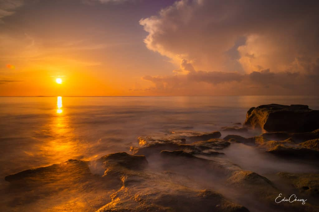 Sunrise at blowing rocks in FLorida