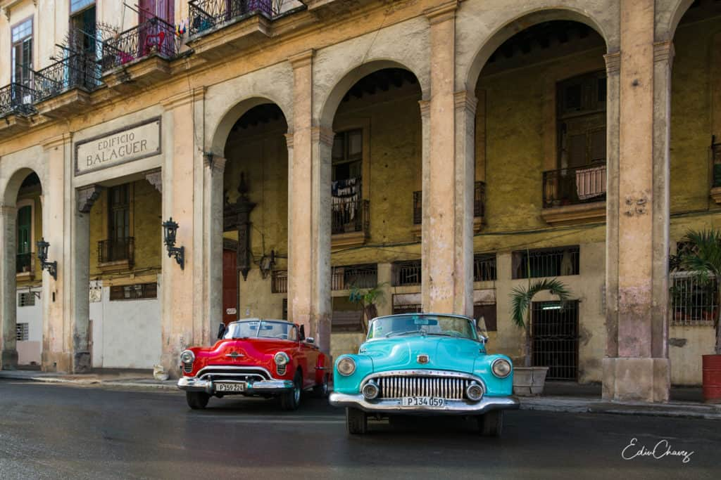 Cuban Cars in Old havana shot by edin chavez