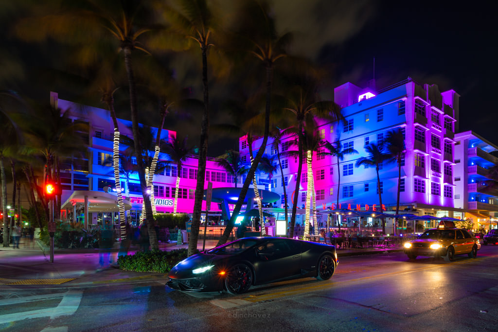 Nikon 14-24 Lens Review miami beach ocean drive night photography commercial photographer