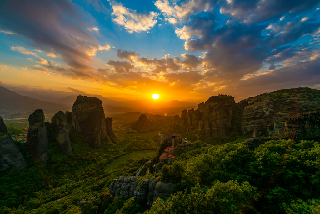 nikon 14-24 review greece meteora sunset
