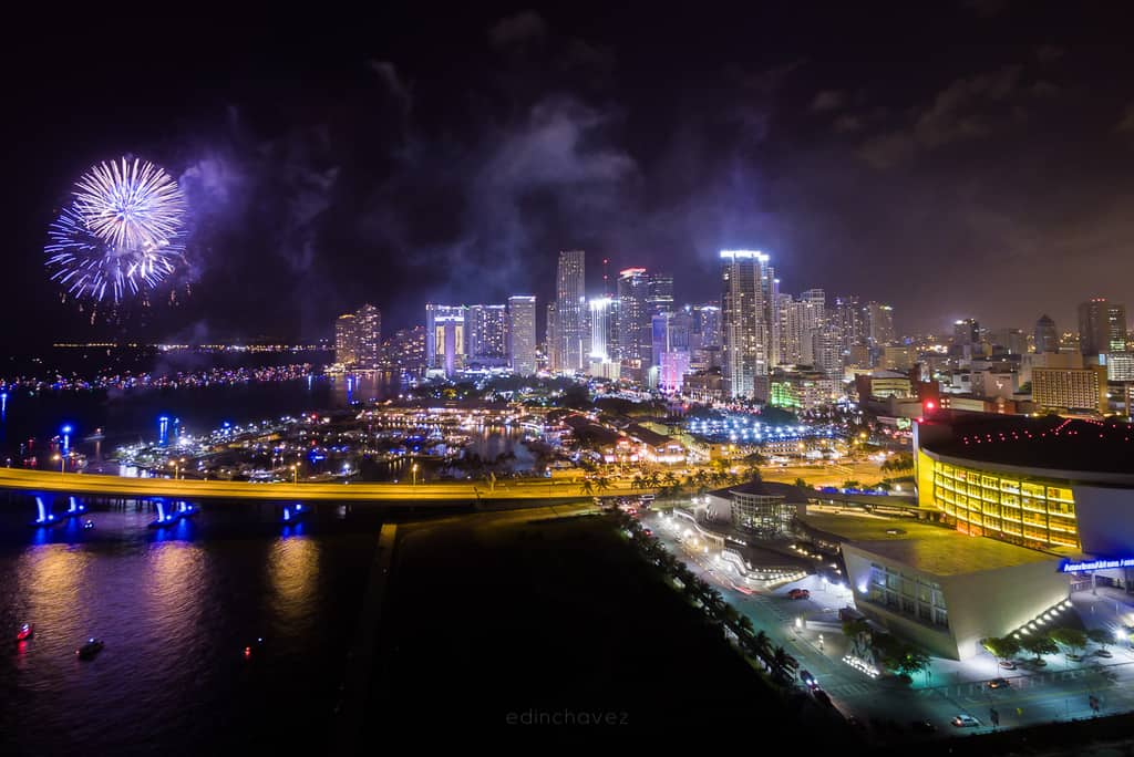 best places to shoot the fireworks in miami