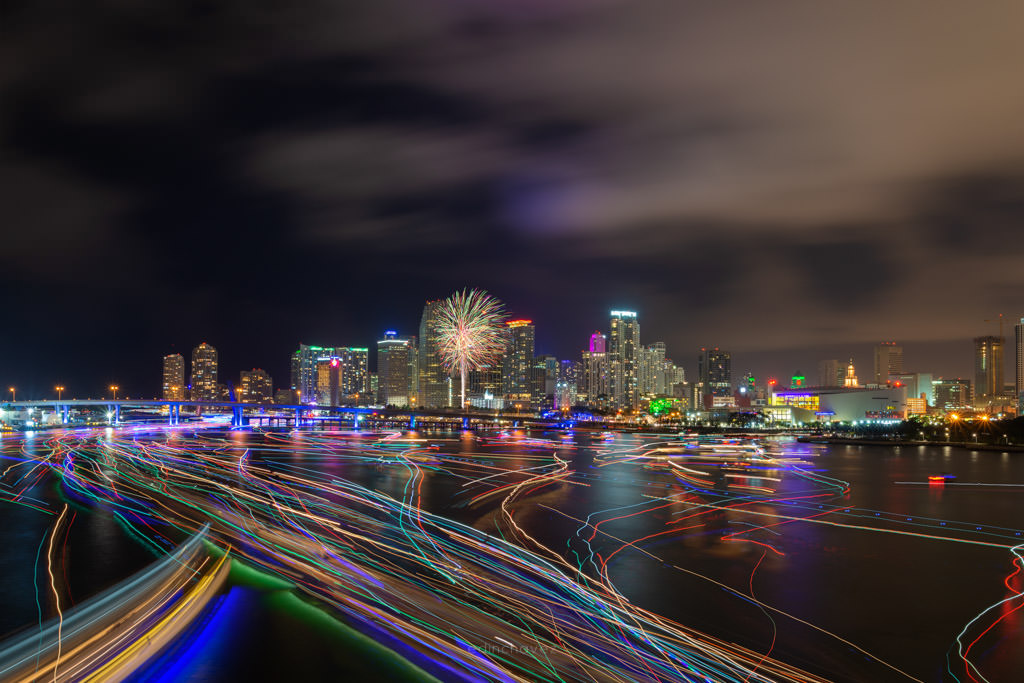 Miami Fireworks Photography Spots