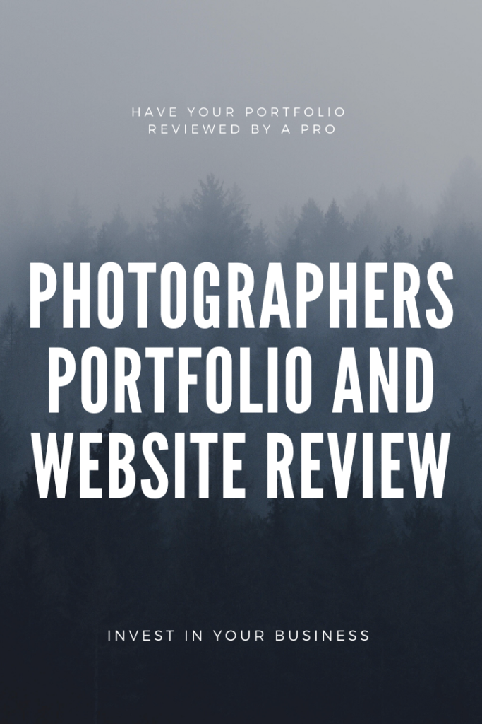 Photographer Portfolio Review